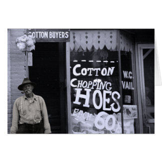 Funny Card - Cotton Chopping Hoes