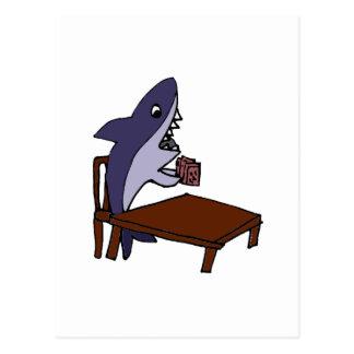 Funny Card Shark Cartoon