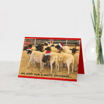 Funny Card, Wish Ewe Merry Xmas, Happy Gnu Year! Holiday Card