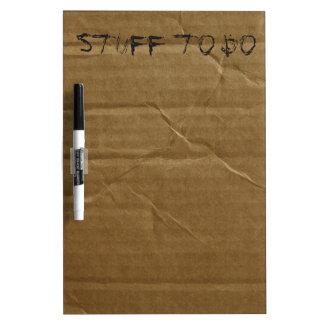 Funny Cardboard Dry Erase Board