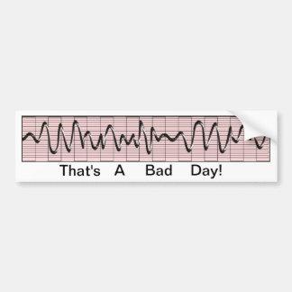 Funny Cardiac Rhythm Strip Bumper Sticker Car Bumper Sticker