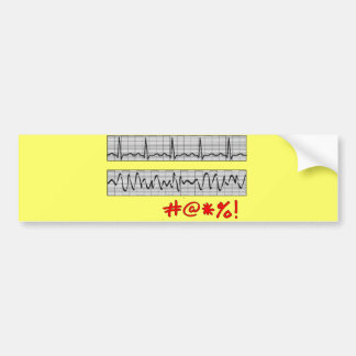 Funny Cardiac Rhythm Strip Gifts Bumper Sticker