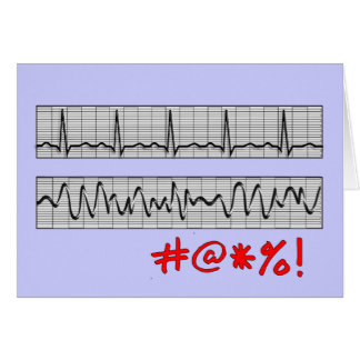 Funny Cardiac Rhythm Strip Gifts Card
