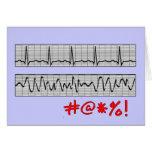Funny Cardiac Rhythm Strip Gifts Cards