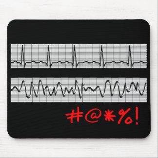 Funny Cardiac Rhythm Strip Gifts Mouse Pads