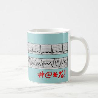Funny Cardiac Rhythm Strip Gifts Classic White Coffee Mug