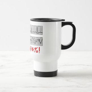 Funny Cardiac Rhythm Strip Gifts 15 Oz Stainless Steel Travel Mug