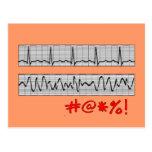 Funny Cardiac Rhythm Strip Gifts Postcard