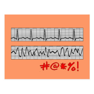 Funny Cardiac Rhythm Strip Gifts Postcard