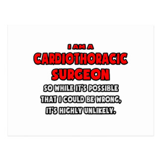 Funny Cardiothoracic Surgeon .. Highly Unlikely Postcard