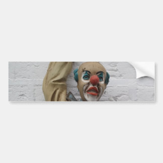 Funny Carnival Clown hanging on wall Bumper Sticker