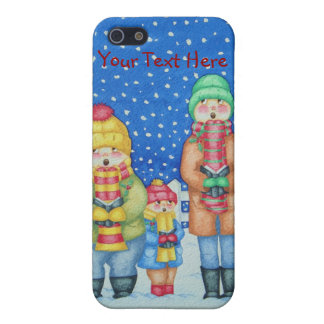 funny carol singers in the snow Christmas art iPhone 5 Case