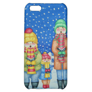 funny carol singers in the snow Christmas art Case For iPhone 5C