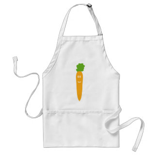 funny carrot icon adult apron