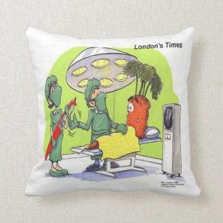 Funny Carrot Surgery Cotton Throw Pillow