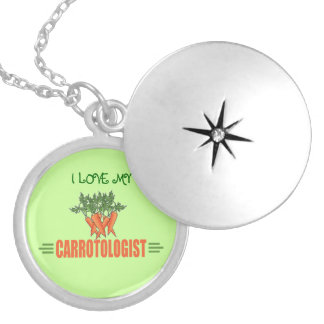 Funny Carrots Silver Plated Necklace