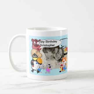 Funny cartoon add your photo coffee mug