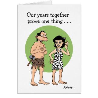 Funny Cartoon Anniversary Card: Proof Card