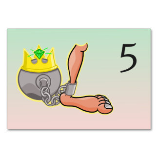 Funny Cartoon Ball And Chain Wedding Card