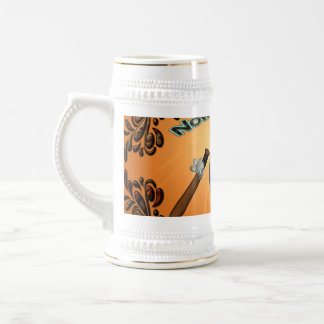 Funny cartoon baseball, now is my time 18 oz beer stein