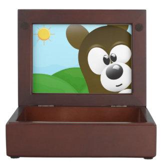 Funny Cartoon Bear Photo Bomb Memory Boxes