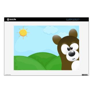 "Funny Cartoon Bear Photo Bomb 13"" Laptop Skins"