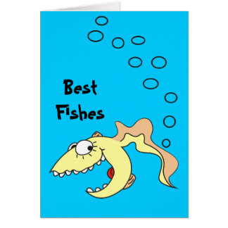 Funny Cartoon Best Fishes Fart Card