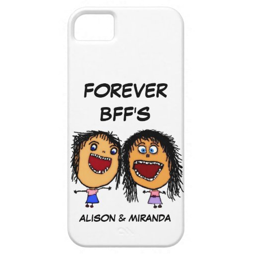 Funny Cartoon Best Friends BFF's iPhone 5 Cases