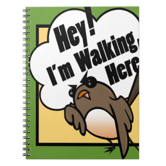 FUNNY CARTOON BIRD SPIRAL NOTEBOOK