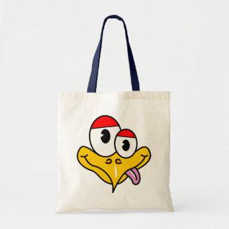 Funny Cartoon Bird Tote Bag