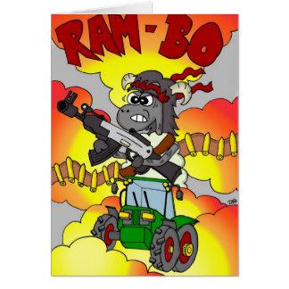 Funny Cartoon Birthday Card - Rambo / Ram-bo