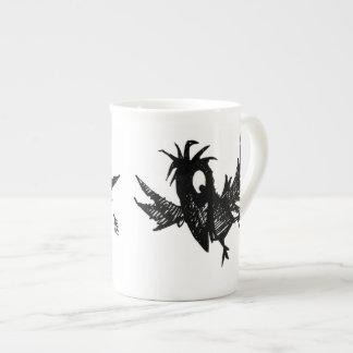 Funny Cartoon Black Crow Tea Cup