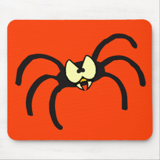 Funny Cartoon Black Spider Mouse Pad