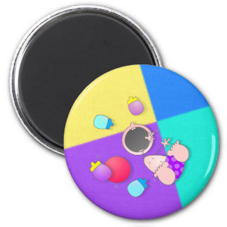 Funny Cartoon Bowling | Funny Bowling 2 Inch Round Magnet