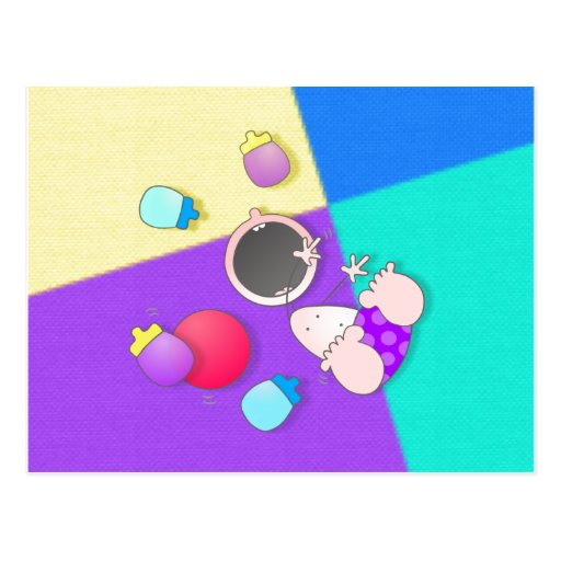 Funny Cartoon Bowling Kid Postcard