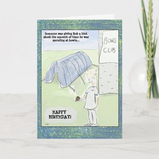 Funny Cartoon Bowls Birthday Card Zazzle