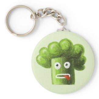 Funny Cartoon Broccoli Guy keychain