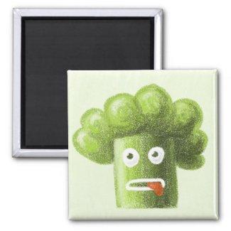 Funny Cartoon Broccoli Guy magnet