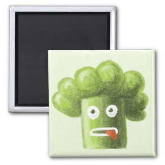 Funny Cartoon Broccoli Guy magnet zazzle_magnet