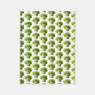 Funny Cartoon Broccoli Pattern Fleece Blanket