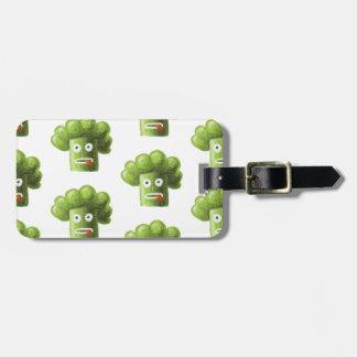 Funny Cartoon Broccoli Pattern Personalized Bag Tag