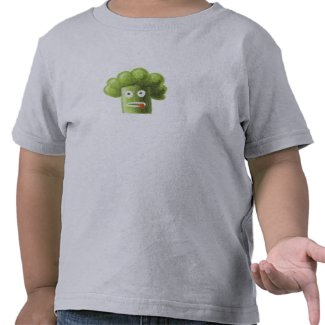 Funny Cartoon Broccoli  shirtzazzle_shirt