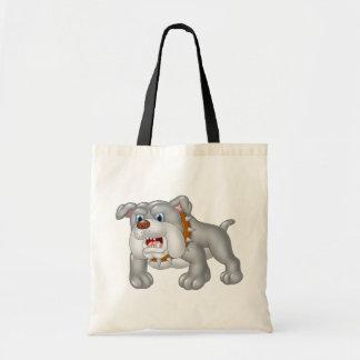 Funny Cartoon Bulldog Tote Bag