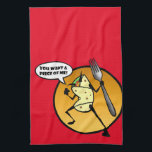 """FUNNY CARTOON BURRITO GRAPHIC KITCHEN DISH TOWEL<br><div class=""""desc"""">Funny burrito graphic illustration vertical kitchen dish towel. Background color can be customized.</div>"""