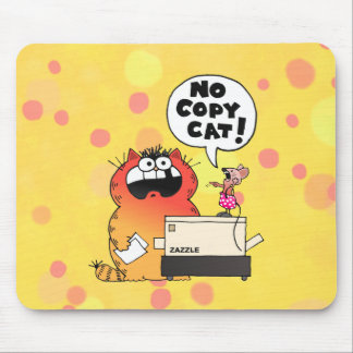 Funny Cartoon Cat | Funny Cartoon Copy-Cat Mousepads
