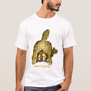 Funny Cartoon Cat Meow's it Going? Tshirt