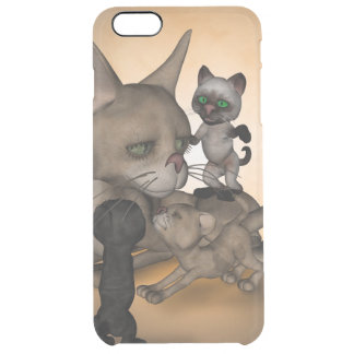 Funny cartoon cat mom uncommon clearly™ deflector iPhone 6 plus case
