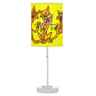 Funny Cartoon Cats Desk Lamp