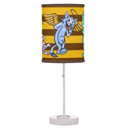 Luxury Funny Cartoon Cats Desk Lamp