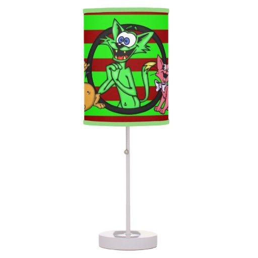 Simple Funny Cartoon Cats Desk Lamps